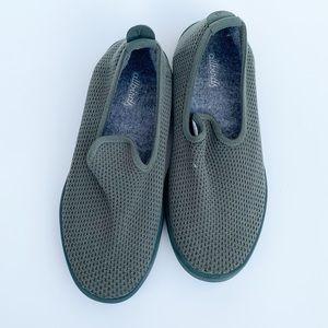 Allbird olive green loafer style flats